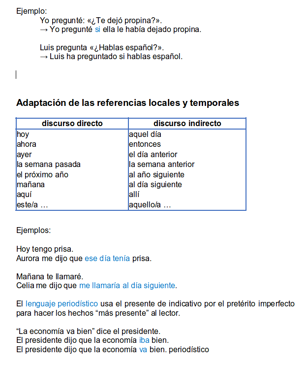 indirect style in spanish part 6