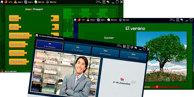 school pupils learn spanish online