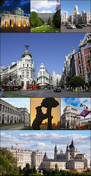 Madrid collage from Wiki Media