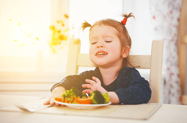 Child reluctant to eat vegetables