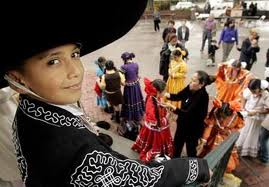 People celebrating special day in Mexico