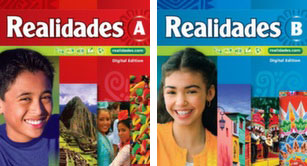 Realidades Book A and B, front covers